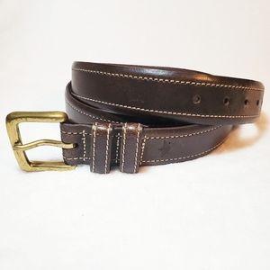 Men's Dockers Brown Genuine Italian Leather Belt